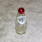 "Vintage 1970's Red, White, Clear Glass 3 1/2"" Santa Collectible Avon Bottle"