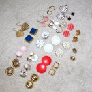 Vintage Costume Jewelry Lot - 21 Pair Earrings