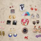 Vintage Costume Jewelry Lot - 14 pair earrings & 5 pins/brooches