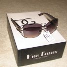 Fashion Sunglasses NEW 2015 DG1260 Ladies Dark Brown with Silver FREE SHIPPING!