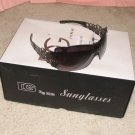 DG337 NEW 2015 Black with Silver Ladies Fashion Sunglasses FREE SHIPPING!