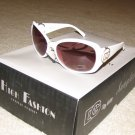 Fashion Sunglasses NEW 2015 DG441 Ladies White with Silver FREE SHIPPING!