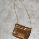Ladies Vintage 1970's Gold Metallic Lined Evening Bag & Matching Coin Purse