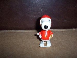 Vintage  Walking Snoopy Football Player