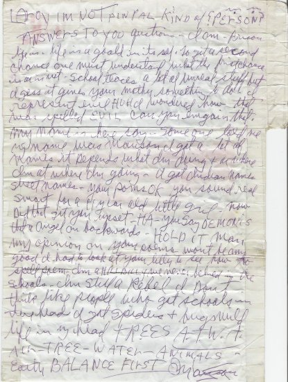 Letters from Charles Manson