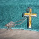 Mans Heavy Cross Pendant with Chain