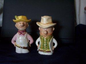 Vintage Cowboy Salt and Pepper Shakers