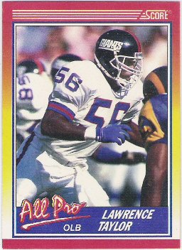 Lawrence Taylor  All Pro Card 1990 Score