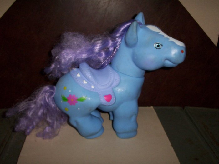 Large Size My Little Pony  Blue with Flowers