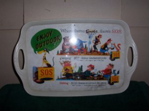 Plastic S O S Serving Tray