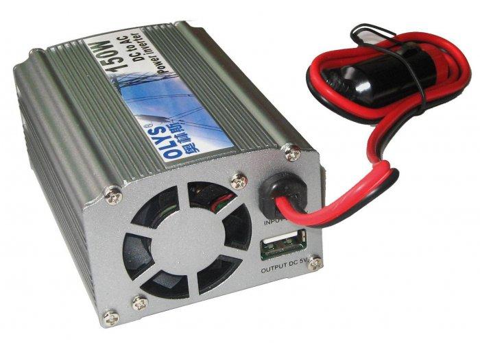 Brand new Mini Car Power Inverter 150W DC to AC Power Inverter PI1512-USB