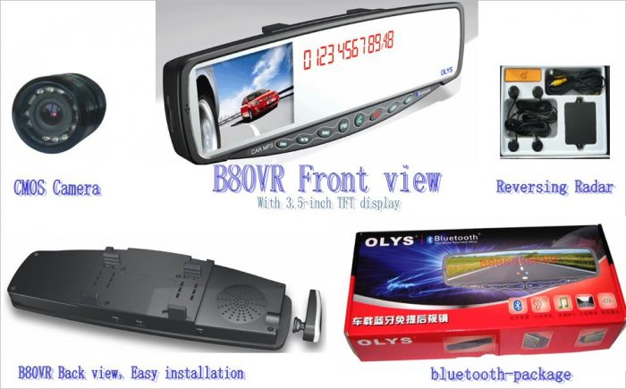OLYS B80-VR car Bluetooth hands-free Products