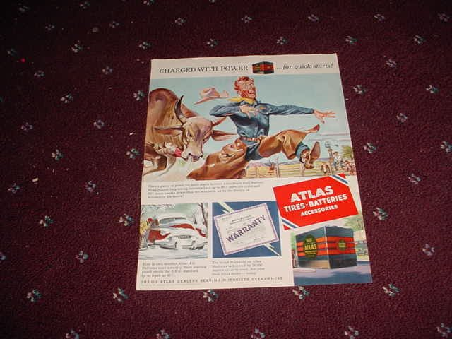 1952 Atlas Battery ad
