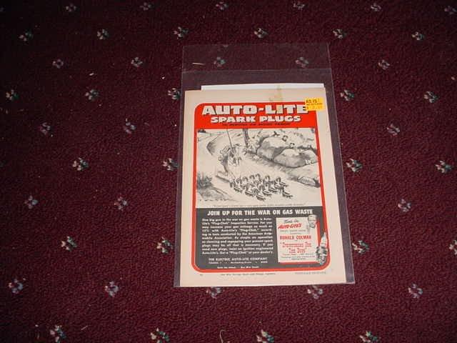 Auto-Lite Spark Plug ad #1