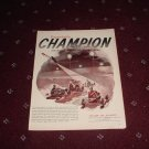 Champion Spark Plugs ad #1