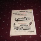 1955 Champion Spark Plugs ad