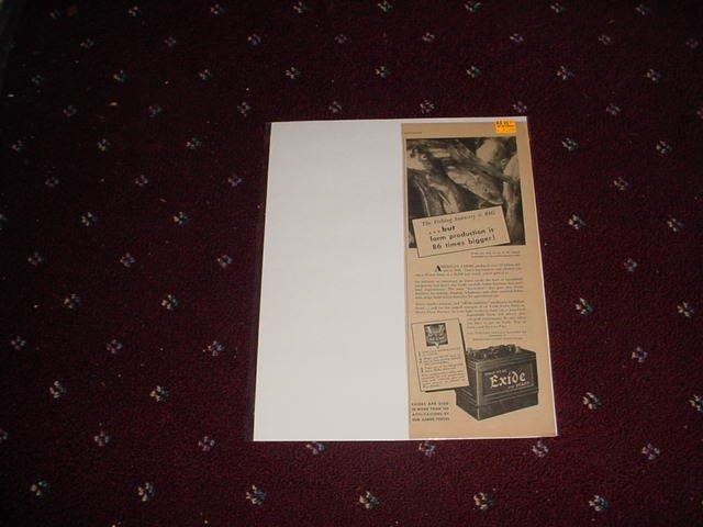 1944 Exide Battery ad #2