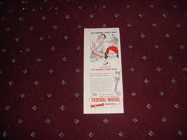1952 Federal-Mogul Oil Bearings ad #1