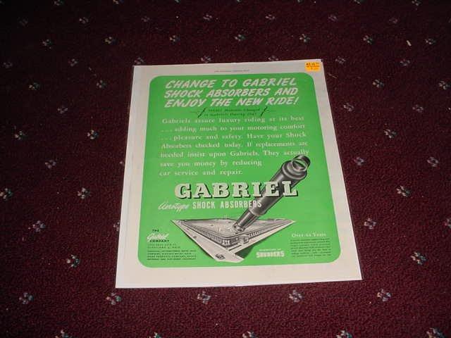1948 Gabriel Shock Absorbers ad