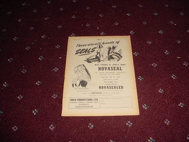 1955 Novaseal Protection ad from the UK