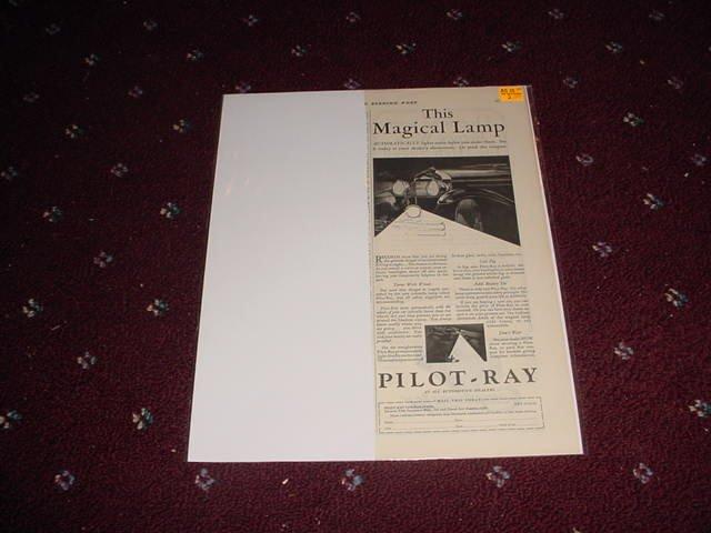 1929 Pilot Ray Headlamp Turner ad