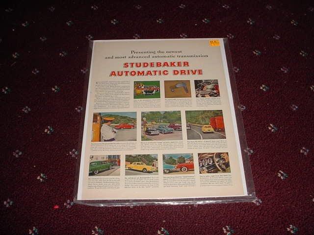 1950 Studebaker Automatic Transmission ad