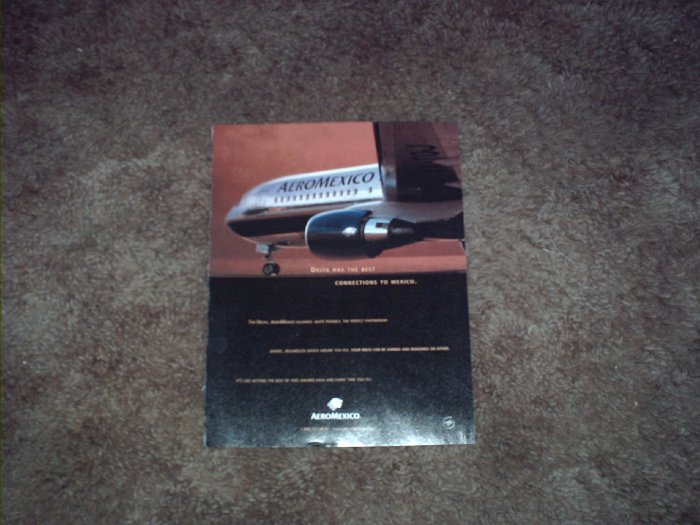 2001 Aeromexico Airlines ad