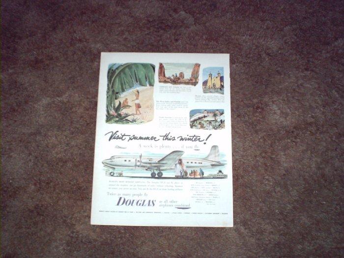 Douglas DC-6 Aircraft ad #2
