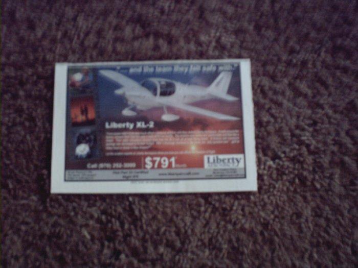 2001 Liberty XL-2 Aircraft ad