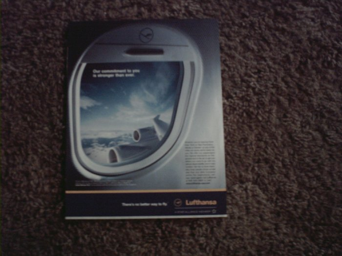 2001 Lufthansa Airlines ad #1