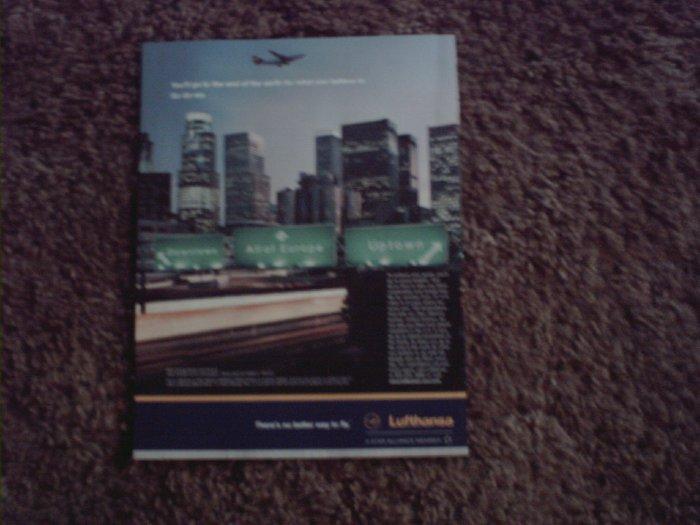 2001 Lufthansa Airlines ad #2