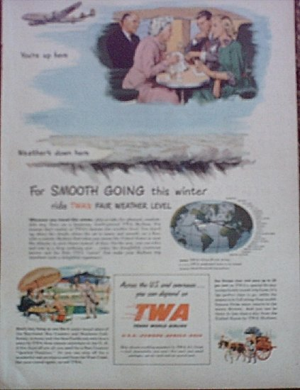 1949 TWA Airlines ad
