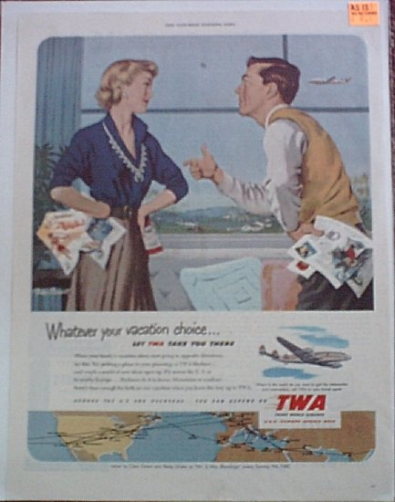 1951 TWA Airlines ad #3
