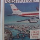 1959 TWA Airlines 707 ad