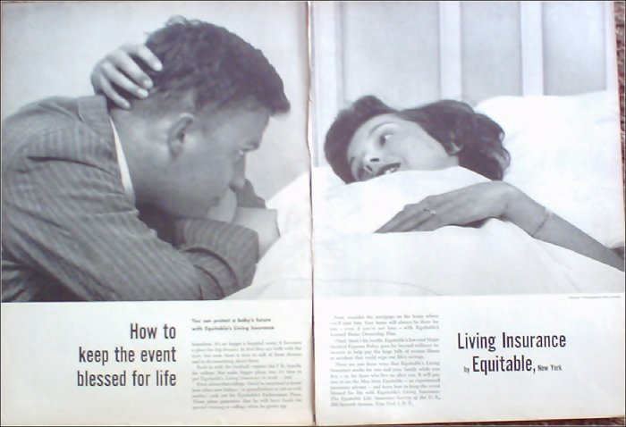 1956 Equitable Life Insurance ad