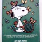 1990 Metropolitan Life Insurance ad featuring Snoopy