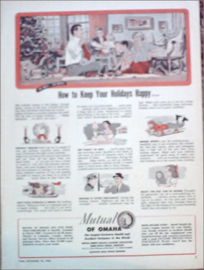 1950 Mutual of Omaha Insurance ad