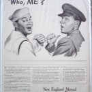 1943 New England Mutual Life Insurance ad