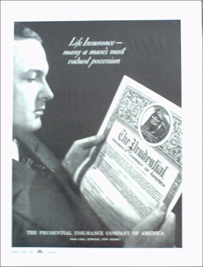1939 Prudential Insurance ad