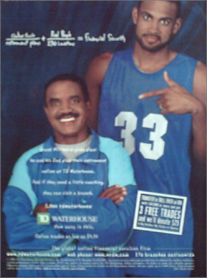 2001 TD Waterhouse Investment ad featuring Grant Hill #2