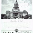 1946 U.S.F & G. Fidelity ad saluting the state of Illinois