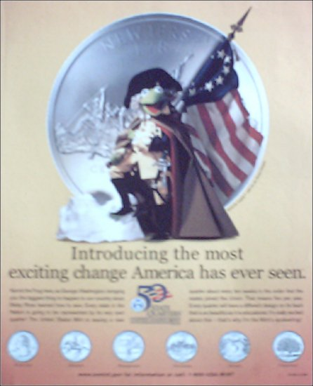 1999 United States Mint ad featuring Kermit the Frog #2
