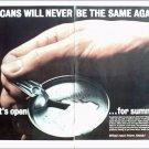 1963 Alcoa Aluminum Tab Top Beer Can ad