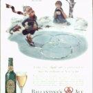 1940 Ballantine Ale Ice Skater ad