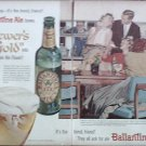 1957 Ballantine Ale Couple ad