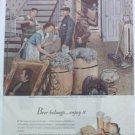 1947 Beer Belongs ad Moving Day number 2 in series