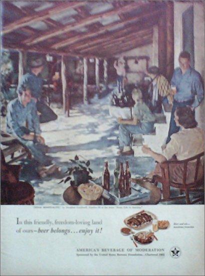 1953 Beer Belongs ad number 59 in series