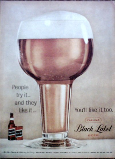 Black Label Beer ad #1