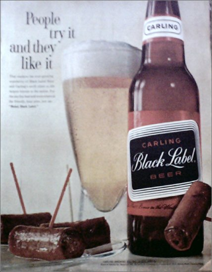 1961 Black Label Beer ad #2