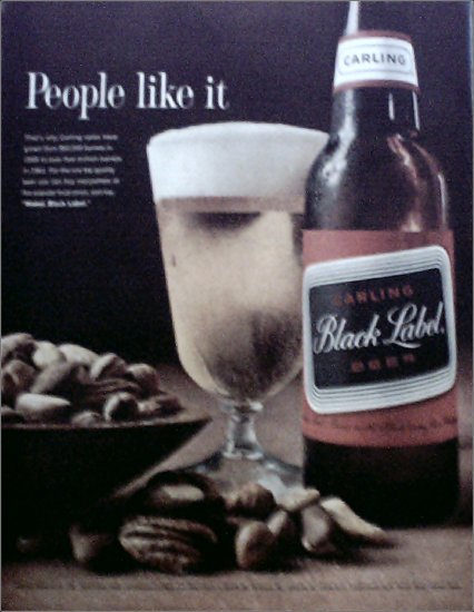 1962 Black Label Beer ad #1